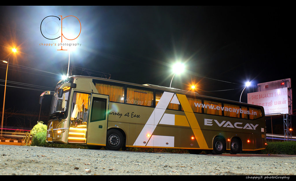 Evacay Bus Service From Chennai to Coimbatore – Scania and Sleeper