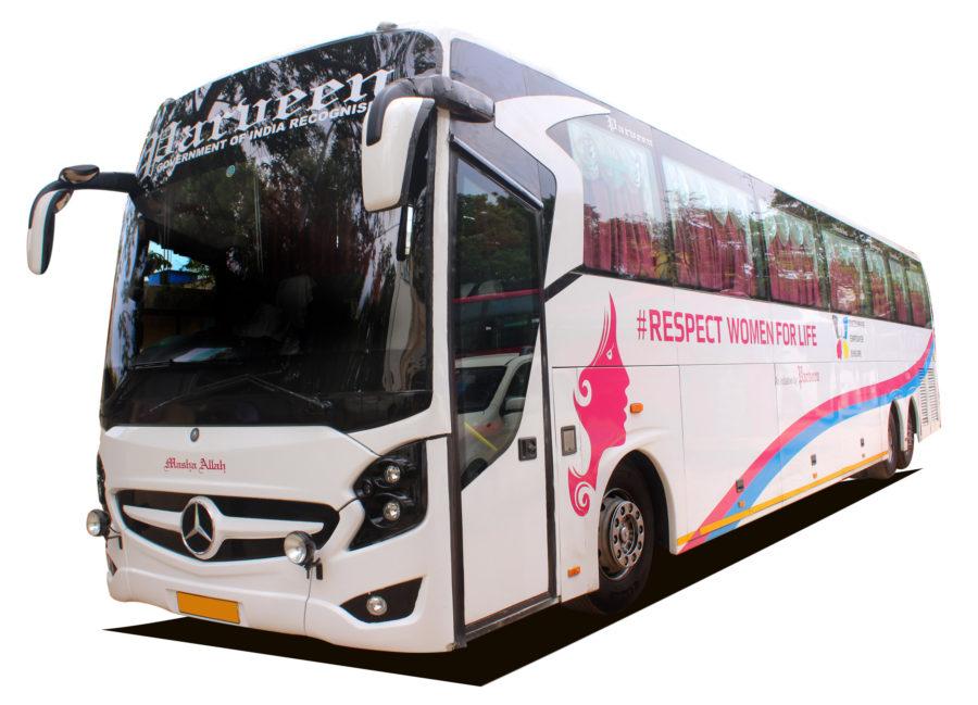 Chennai To Madurai All Women Bus Service By Parveen Travels